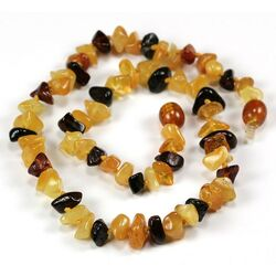 Wholesale Baby teething Baltic amber mixed bead necklaces