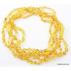 5 Honey BEANS Baltic amber adult wholesale necklaces
