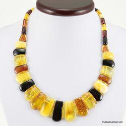 Beautiful Multi pieces Baltic amber choker 18in