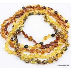 5 BUTTON beads Baltic amber necklace