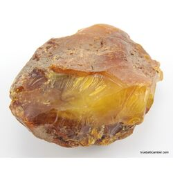 Massive genuine Baltic amber fossil stone 125g