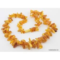 Honey THORNS Baltic amber necklace 24in