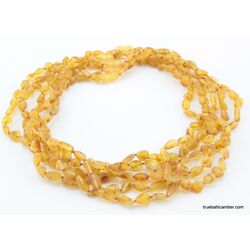 5 Honey RAW BEANS Baltic amber adult necklaces