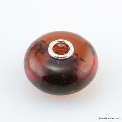 Cognac Baltic amber PANDORA style bead