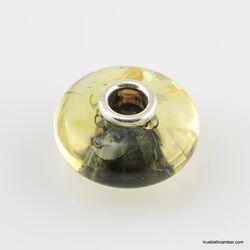 Green Baltic amber PANDORA style bead