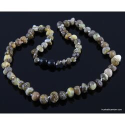 Unique BAROQUE beads Baltic amber mommy necklace 18in