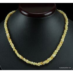 Overlapping Butter pieces Baltic amber necklace 18in
