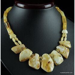 Vintage unique pieces Baltic amber choker 17in