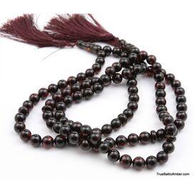 3 Islamic 33 ROUND beads prayer PRESSED Baltic amber rosary