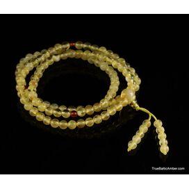 Tibetan Buddhist Japa Mala Prayer 108 Baltic amber beads rosary