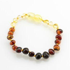 Rainbow BAROQUE Baby teething Baltic amber bracelet