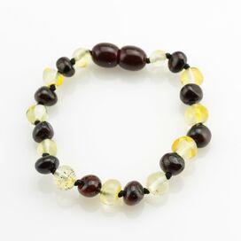 Multi BAROQUE Baby teething Baltic amber bracelet