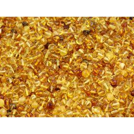 Natural BAROQUE Baltic amber holed loose beads