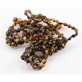 10 BEANS Baltic amber teething Baby bracelets 14cm