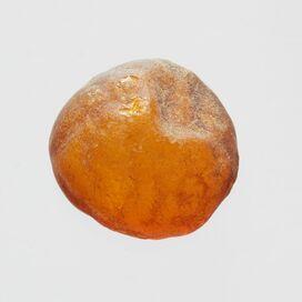 Natural rare Baltic amber resin drop with cracks
