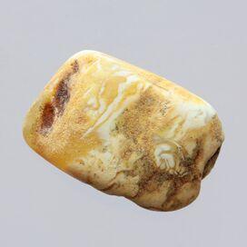 Raw Rough White Genuine Baltic amber 5g Stone