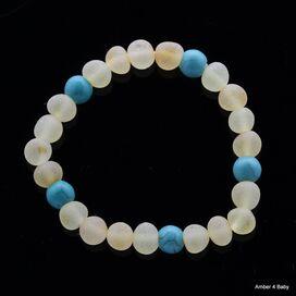 Raw Gemstone Baltic Amber Teething Bracelet for Babies