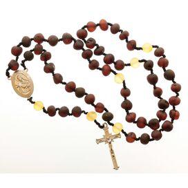Cherry Baltic Amber CHRISTIAN CATHOLIC Rosary