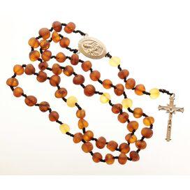Cognac Baltic Amber CHRISTIAN CATHOLIC Rosary