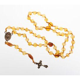 Honey Baltic Amber CHRISTIAN CATHOLIC Rosary