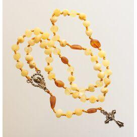 Milk Baltic Amber CHRISTIAN CATHOLIC Rosary