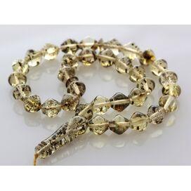 Islamic 33 Drops Baltic amber Prayer Islamic Cut beads