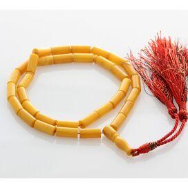 Islamic 33 Prayer BALTIC AMBER CYLINDER Beads Rosary