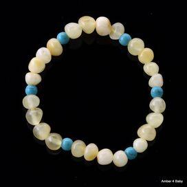 Gemstone Baltic Amber Teething Bracelet for Babies