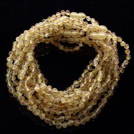 10 Raw Lemon BAROQUE teething Baltic amber necklaces 33cm