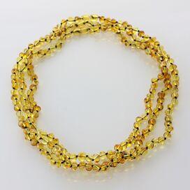 3 Honey BAROQUE Baltic amber adult necklaces 53cm