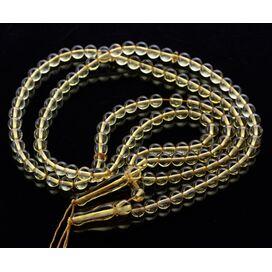 Lot of 2 Islamic 66 Honey Baltic amber Prayer ROUND beads