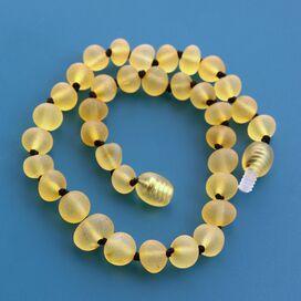 Big Raw Lemon Baroque Teething Baltic Amber Necklace