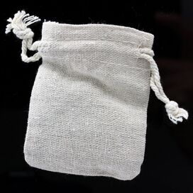 Small Cotton Fabric Gift Pouch