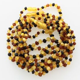10 Raw Multi BAROQUE Baltic amber teething necklaces 28cm