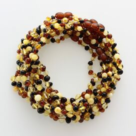 10 Multi BAROQUE Baltic amber teething necklaces 28cm