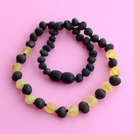 Raw Multi Baroque Teething Baltic Amber Necklace