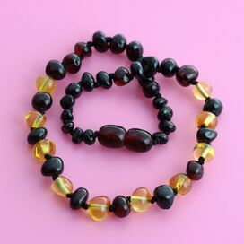 Multi Baroque Teething Baltic Amber Necklace
