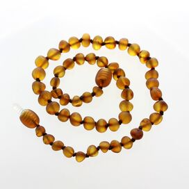 Raw Honey Baroque Teething Baltic amber Necklace