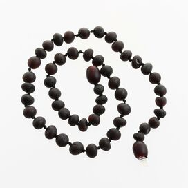 Raw Cherry Baroque Teething Baltic amber Necklace