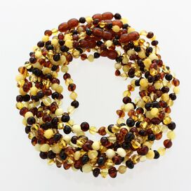 10 Multi BAROQUE Baltic amber teething necklaces 33cm