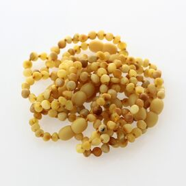 10 Raw Butter BAROQUE Baltic amber teething bracelets 14cm