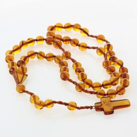 Christian ROSARY made of natural Baltic amber