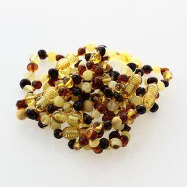 10 Big Multi BAROQUE Baltic amber teething bracelets 14cm