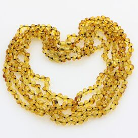 5 Honey BAROQUE Baltic amber adult necklaces 58cm