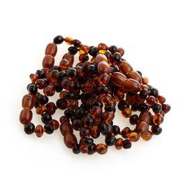 10 Multi BAROQUE Baltic amber teething bracelets 12cm