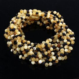 10 Raw Multi BAROQUE teething Baltic amber necklaces 33cm