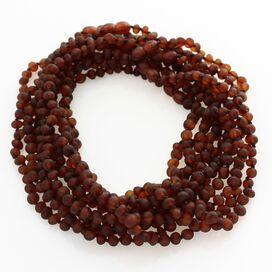 10 Raw Cognac BAROQUE Baltic amber teething necklaces 36cm