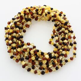 10 Multi BAROQUE teething Baltic amber necklaces 35cm