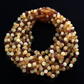 10 Raw Multi BAROQUE Baltic amber teething necklaces 33cm