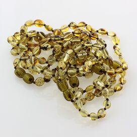 10 Green BEANS Baltic amber teething bracelets 14cm